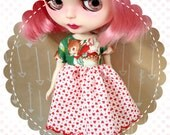 Reindeer Boogie / One-of-a-Kind Doll Dress for Blythe