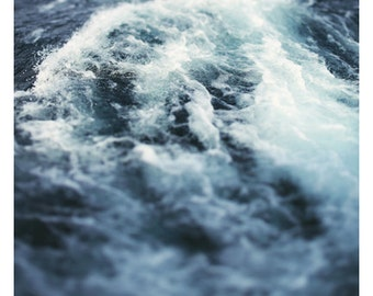 Fine Art Photography - Nature Photograph - Lake - Michigan - Summer - Water - Beach Photograph -  Home Decor - Marine - Blue - Waves