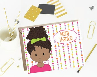 Thank You Note Cards for Kids- Beads
