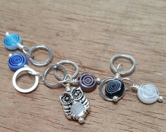 Mini Hoot and Circle Stitch Markers...7 and under