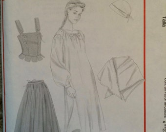 McCall's Costumes M4863 Pattern-Colonial Costume Pattern-OOP, Wms size 6 through 12, OOP, New and uncut