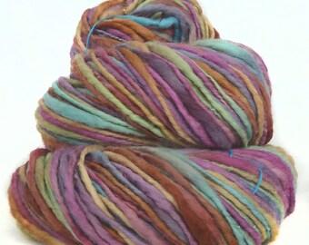 Handspun Yarn handdyed superfine merino wool