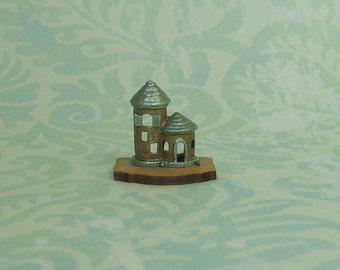 Dollhouse Miniature Antique Gold & Sage Tower Figurine