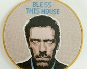 Bless This House fan art cross stitch House M.D.
