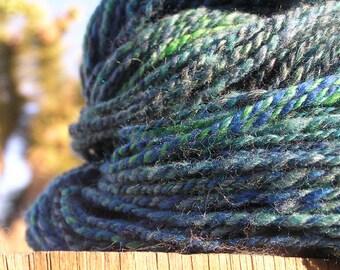 Hand Spun Yarn - alpaca, angora and wool - Mirthful