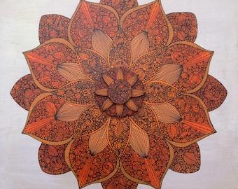 Mandala 10x10 -  Original Painting on wood panel