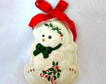 Lenox Holiday Teddy Bear Cookie Mold - Holiday baking craft supply