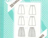 Colette 1016 - GINGER A-Line SKIRT  - Sewing Pattern - Multi Sizes 0 to 18 - UNCUT