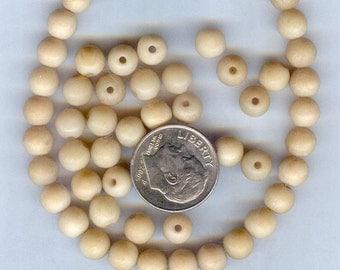 Tea Dyed Round Bone Beads 6mm 50 pcs