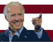 Joe Biden PATTERN for cross-stitch portrait