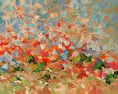 Abstract Landscape Painting Giclee Print Made To Order Bold Bright Brushstrokes Impressionist Fine Art Print Wall Decor by Linda Monfort