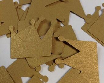 Princess Crown Confetti Gold Metallic paper