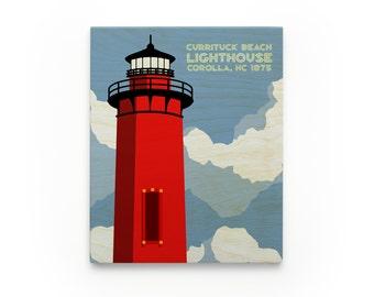 Currituck Lighthouse Art Block- North Carolina Lighthouse Art