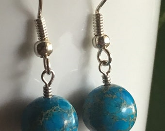 Turquoise Aqua Terra Jasper Earrings