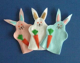 Bunny Rabbit Puppet Set of Three