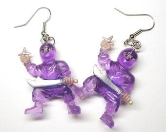 Sweet Purple Ninja Earrings