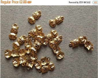On Sale Vintage gold plated owl charms