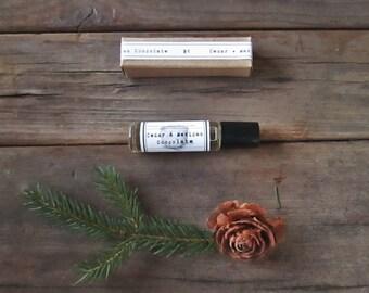 Perfume Oil CEDAR & Mexican Chocolate Roll on Perfume