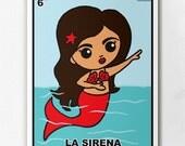 Loteria La Sirena Print