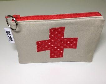 FIRST AID BAG - Medical Zipper Pouch- Zipper Bag-Medical Bag - Travel Bag-Epipen Pouch Bag
