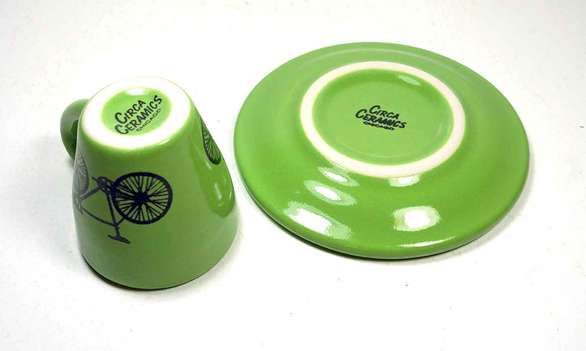 Tour de France. Espresso cup w/saucer (green jersey) Made to Order
