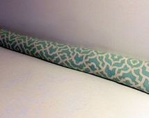 Door Draft Stopper, Draft Snake, Draft Dodger, Door warmer, draught excluder, High quality Waverly brand, light upholstery grade fabric.