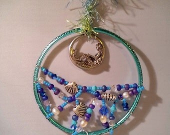 Mermaid Moon Suncatcher Ornament