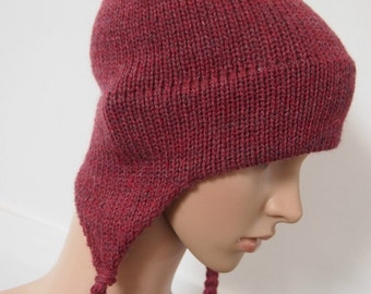 Earflap Aviator Hat teen small womens autumnal tones