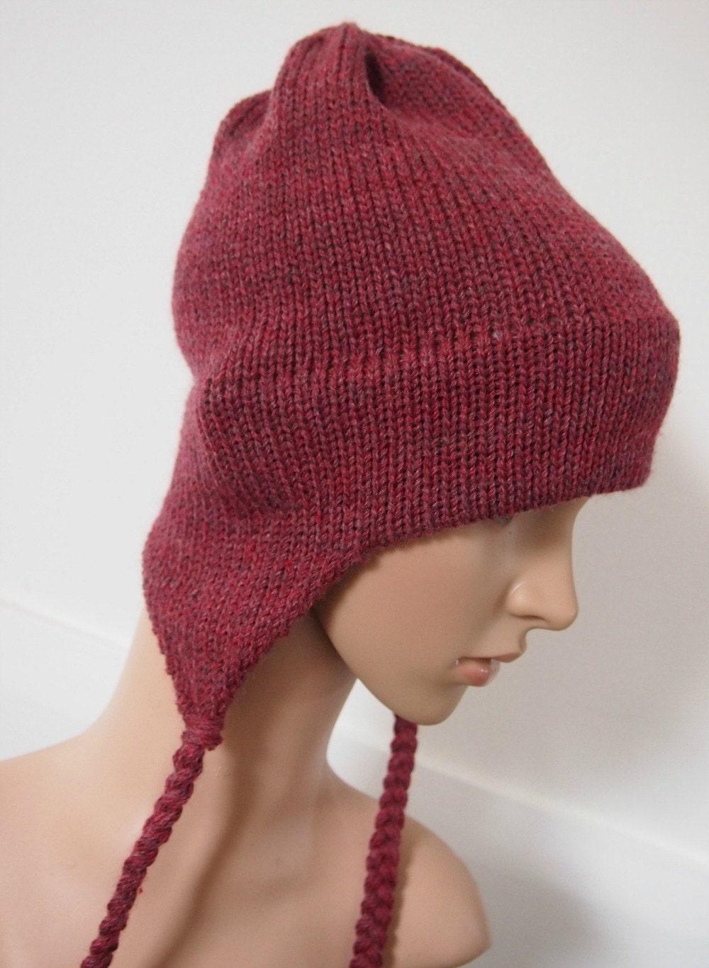 earflap aviator hat small womens autumnal tones