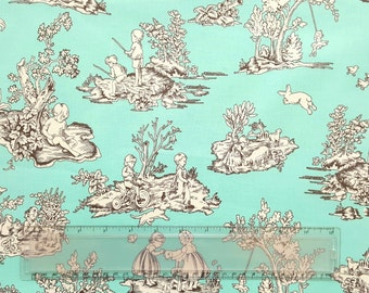 Laminated Cotton Fabric: Kids Toile by Michael Miller - 1 Yard