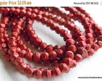 25% OFF Summer Sale 3mm English Cut Beads - Matte Metallic Lava - Czech Glass 50 pcs (G - 121)