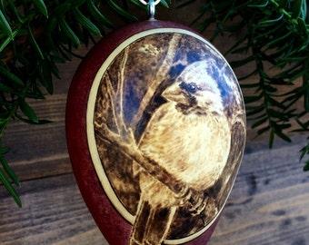 Winter Cardinal Ornament egg gourd
