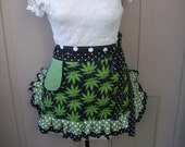 Womens Aprons - Canabis Fabric Aprons - Marijuana Aprons - Pot Smokers Aprons - Annies Attic Aprons - Bong Smokers Aprons