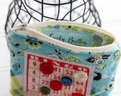 Bingo Change Purse - Bingo Zippered Pouch - Coin Purse - Small Wallet - Zipper Pouch - Little Coin Purse - Bingo Bag - Jewelry Pouch