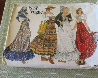 Vintage Vogue 1009 Misses Skirt and Shawl Sewing Pattern UNCUT W 26.5