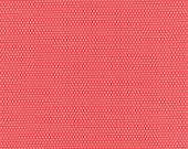 Little Ruby - Little Bliss Dot in Red and Coral Pink: sku 55134-21 cotton quilting fabric by Bonnie and Camille for Moda Fabrics - 1 yard