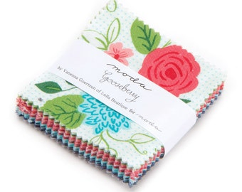 SALE - 1 pack - Gooseberry Mini Charm Pack by Gooseberry for Moda Fabrics,  42 2.5 inch squares