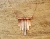 ON SALE Step Fringe Necklace