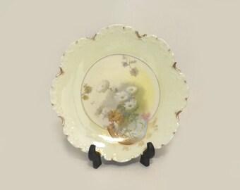 Rosenthal Bavaria Plate, Monbijou Floral, Wild Flowers with Gold Accents, Vintage Porcelain Cabinet Dish