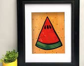 Watermelon Art Print - Wa...