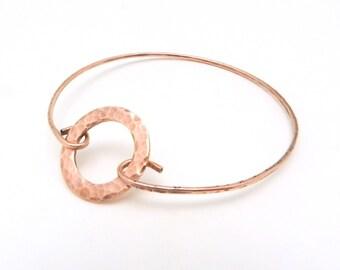 Copper Bangle Bracelet, Bangle Bracelet, Hammered Copper Jewelry, Copper Bracelet, Hammered Bangle, Minimalist Jewelry, By Durango Rose