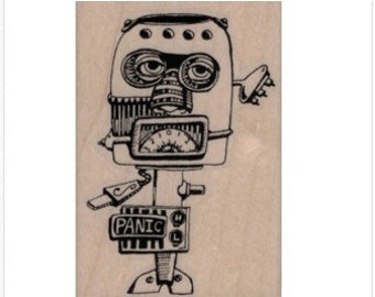 robot stamps rubber stamps 19912 stamp stamping supplies original design Mary Vogel Lozinak