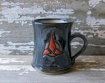 Klingon Mug - Handmade Pottery Mug - Star Trek Inspired - Bloodwine - Raktajino