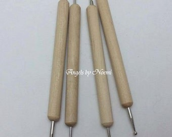 Pack of 4 Ball Stylus Polymer Clay Pottery Ceramics Sculpting Modeling Toolsl - For making OOAK Art Dolls
