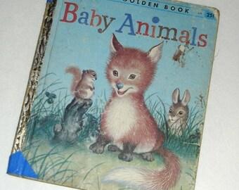 Baby Animals, A Little Golden Book, 1956, Vintage