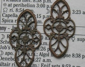 Pretty old French brass filigrees..perfect for making a romantic pair of earrings.