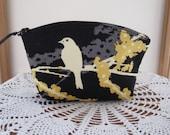 Essential Oil Case Clutch Cosmetic Bag  Purse Songbirds   Wedding Bridesmaid Gift