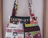 Purse Pleated Handbag  Ipad Netbook Tote  Modern fabric fashion magazine