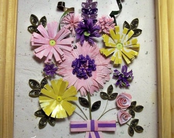 Quilling, Recycled Paper, Quilled Flowers, Paper Art