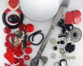 DIY Kit - Jeweled Hand Mirror - Valentine's Romance